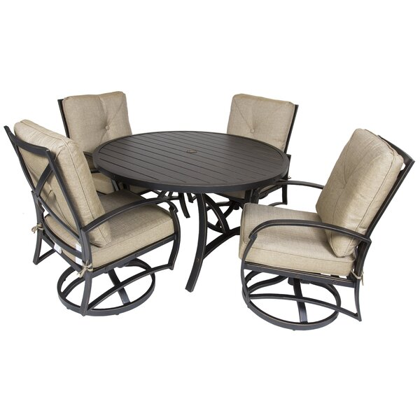 Gadd 5 Piece Dining Set with Cushions by Red Barrel Studio