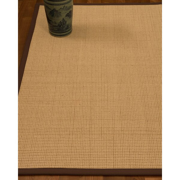 Chaves Border Hand-Woven Wool Beige/Brown Area Rug by Rosecliff Heights