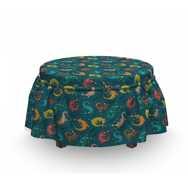 Bohemian Lizards Ottoman Slipcover (Set Of 2) By East Urban Home
