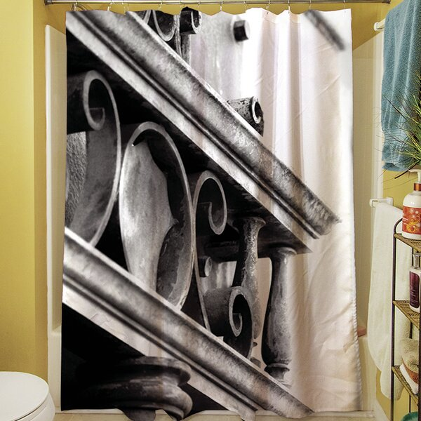 Urban Detail Scroll Shower Curtain by Manual Woodworkers & Weavers