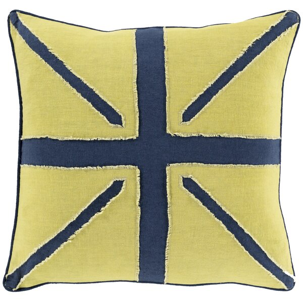 Harriotte Linen Throw Pillow by 17 Stories