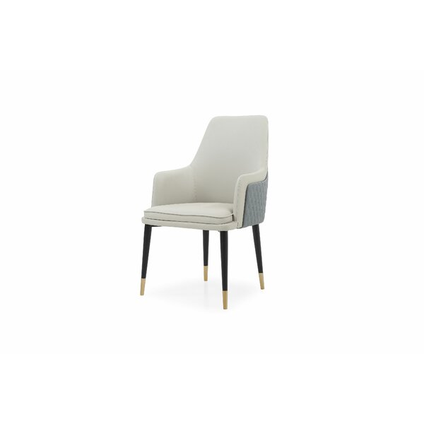Josef Genuine Leather Upholstered Dining Chair by George Oliver