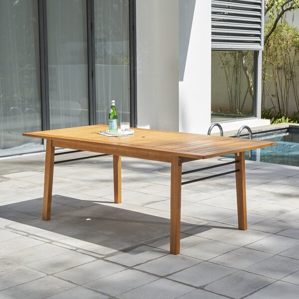 Mcevoy Solid Wood Dining Table by Rosecliff Heights