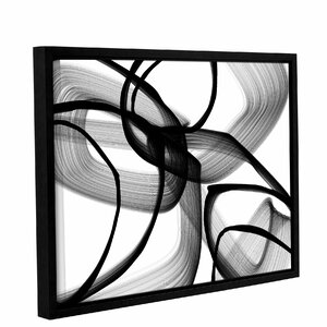 'Abstract Poetry in Black and White 100' Framed Graphic Art by Orren Ellis