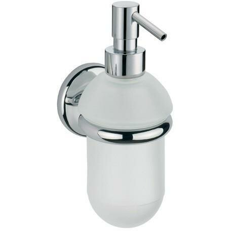 Maniscalco Wall Frosted Glass Pump Soap & Lotion Dispenser by Latitude Run
