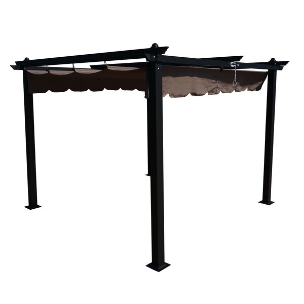 Columbia 9.5 Ft. W x 9.5 Ft. D Metal Pergola by Kozyard