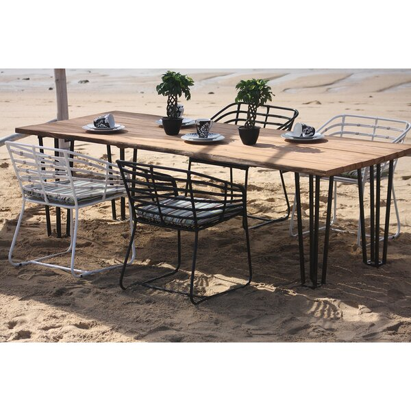 Exo Aluminum/Teak Dining Table by Harmonia Living