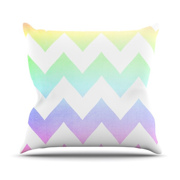 Water Color by Catherine McDonald Outdoor Throw Pillow by East Urban Home