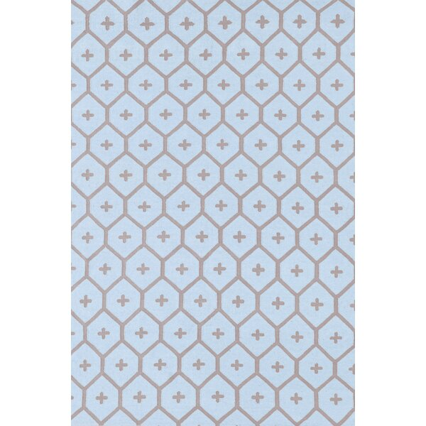 Elizabeth Blue/Brown Vintage Indoor/Outdoor Area Rug by Bunny Williams for Dash and Albert