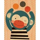 Funny Monkey Decorative Plaque by Petit Collage