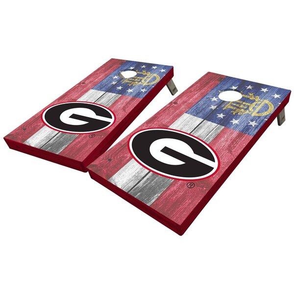 University of Georgia State Flag 10 Piece Cornhole Set by West Georgia Cornhole