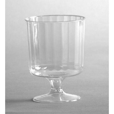 Classic Crystal Plastic Wine Glass on Pedestal in Clear by WNA Comet