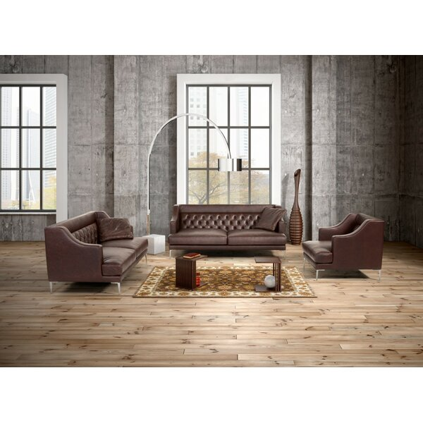 Gertz 5 Piece Leather Living Room Set by House of Hampton