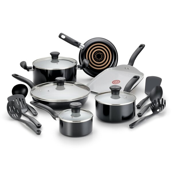 Initiatives 16 Piece Non-Stick Cookware Set by T-fal