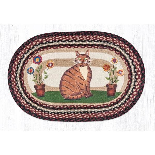 Folk Art Cat Printed Area Rug by Earth Rugs