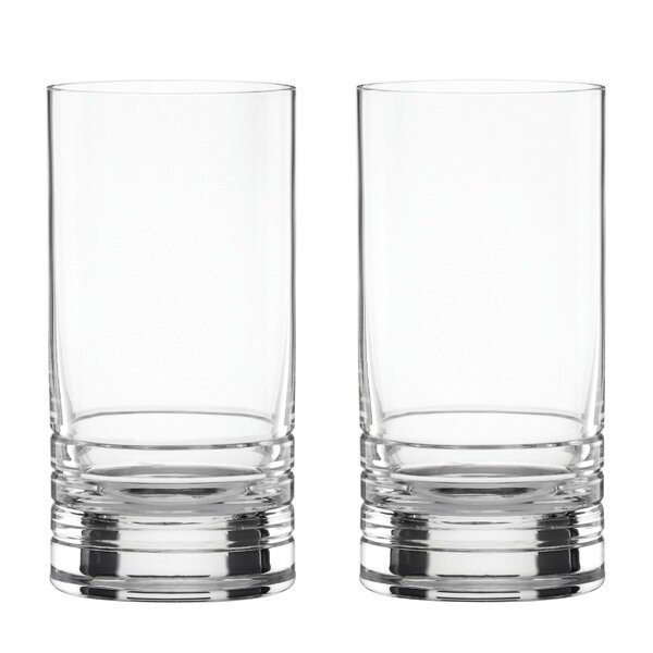 Pearl Place 16 oz. Crystal Highball Glass (Set of 2) by kate spade new york