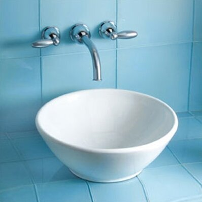 Larissa Ceramic Circular Vessel Bathroom Sink by Toto