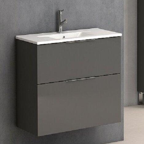 Marius 25 Wall-Mounted Single Bathroom Vanity Set by Orren Ellis