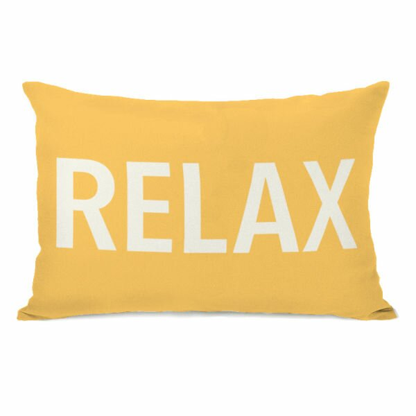 Relax Throw Pillow by One Bella Casa