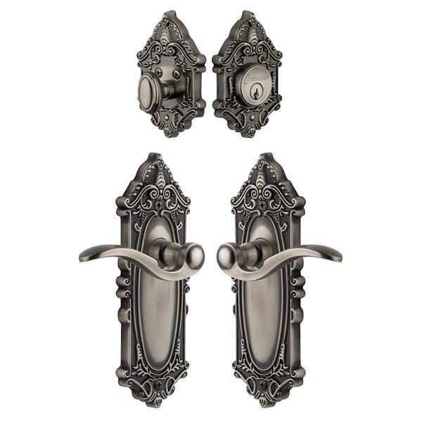 Grande Victorian Keyed Door Lever by Grandeur