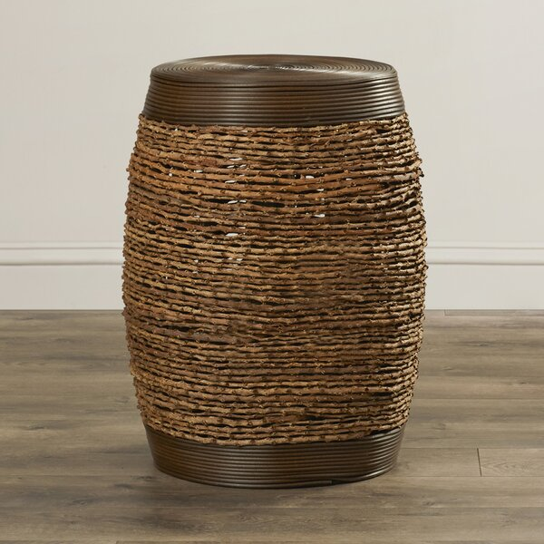 Makah Bamboo Weave Stool In Unique Barrel Shape (Set of 2) by World Menagerie