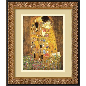 'The Kiss (Le Baiser/Il Baccio)' by Gustav Klimt Framed Painting Print by Amanti Art