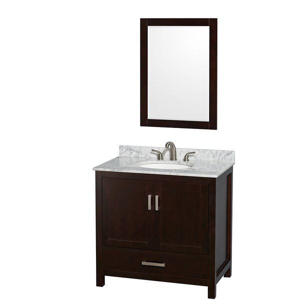 Sheffield 36 Single Espresso Bathroom Vanity Set with Mirror by Wyndham CollectionSheffield 36 Single Espresso Bathroom Vanity Set with Mirror by Wyndham Collection