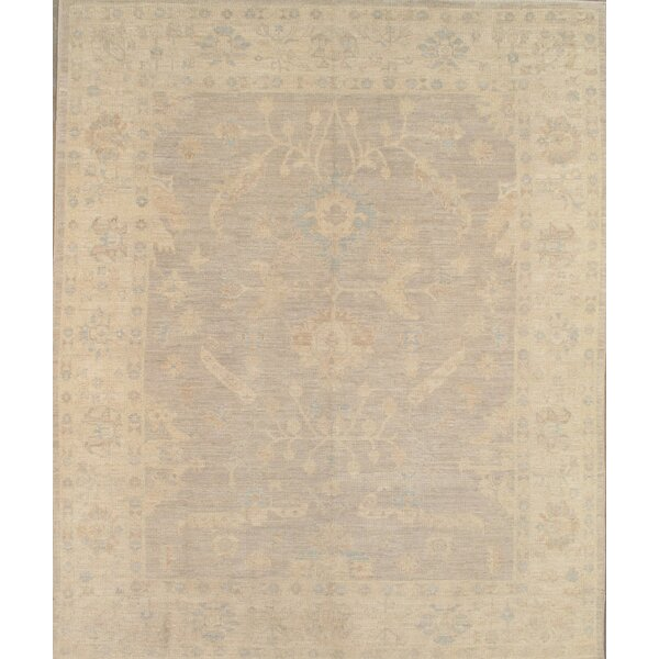 Oushak Hand-Knotted Light Gray Area Rug by Pasargad