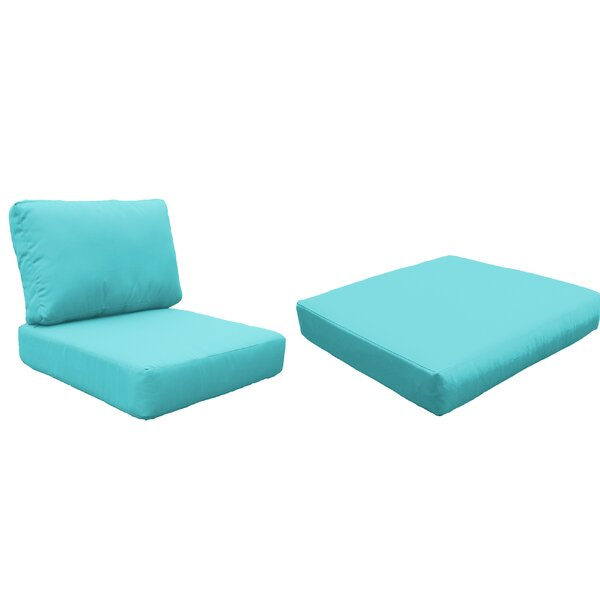 Miami 6 Piece Outdoor Lounge Chair Cushion Set by TK Classics