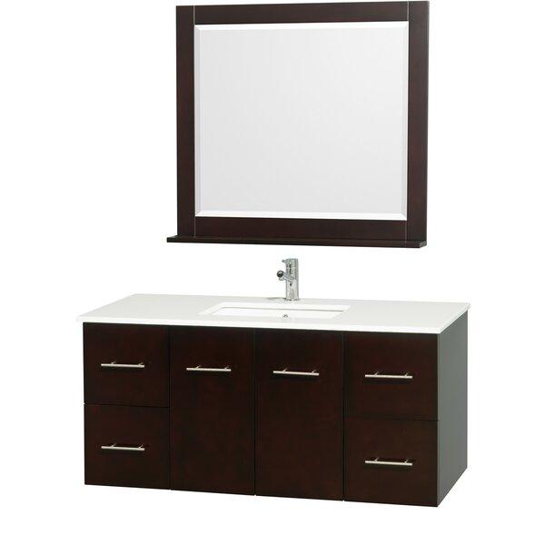 Centra 48 Single Espresso Bathroom Vanity Set with Mirror by Wyndham Collection