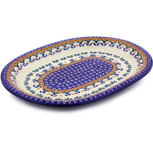 Polish Pottery Oval Platter by Polmedia