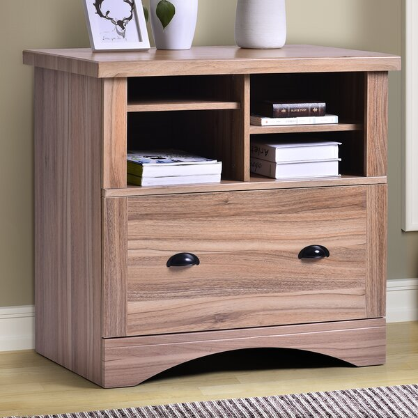 Argentia Wood 1-Drawer Lateral Filing Cabinet