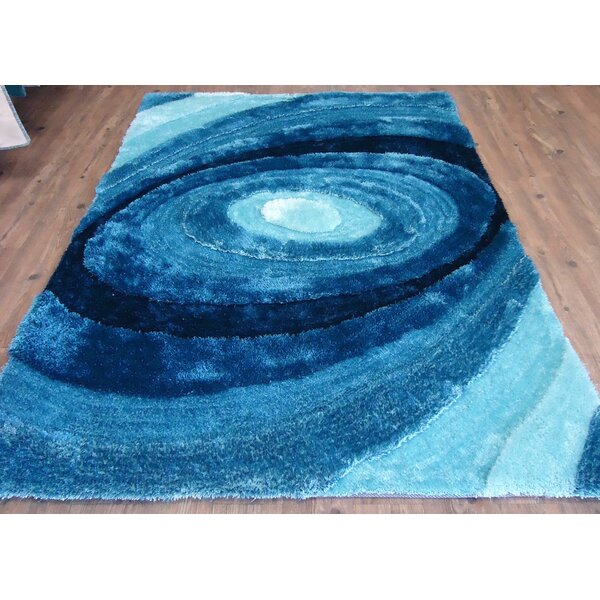 Clewis Abstract Design Hand-Tufted Turquoise Area Rug by Orren Ellis