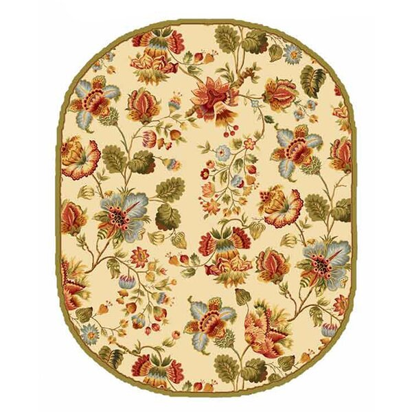 Kinchen Ivory/Red Area Rug by August Grove