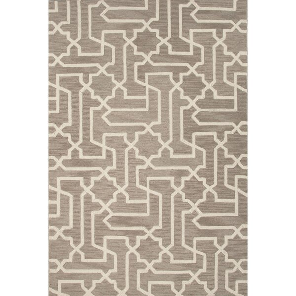 Devos Polyester Hand Tufted Taupe/Tan Area Rug by Mercury Row