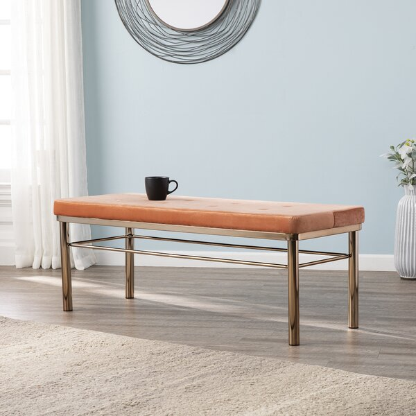 Dolly Art Deco Metal Bench by Mercer41