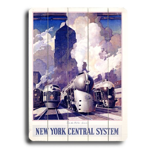 New York Central Railroad Vintage Advertisement by Red Barrel Studio