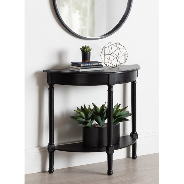 Orton Half Moon Wood Console Table by Canora Grey