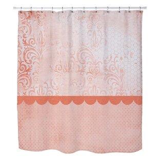 brown and orange shower curtain. Lundstrom Peach Shower Curtain  Wayfair
