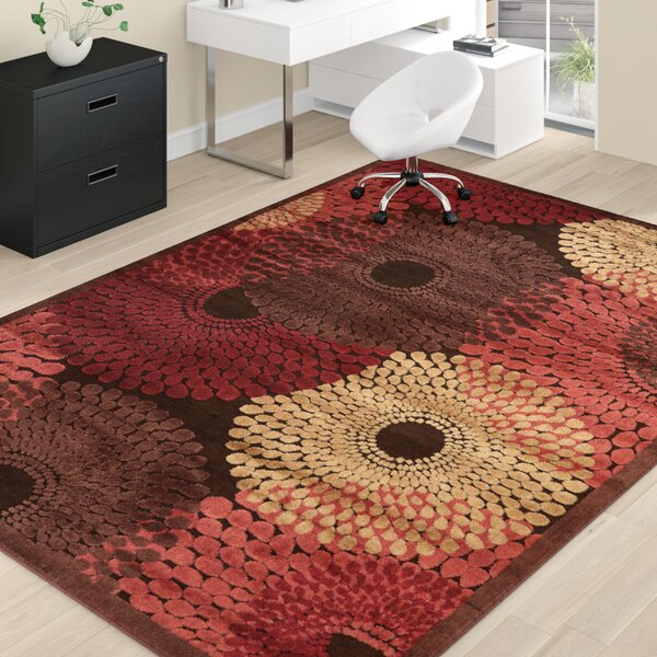 Brown/Red Area Rug by Wade Logan