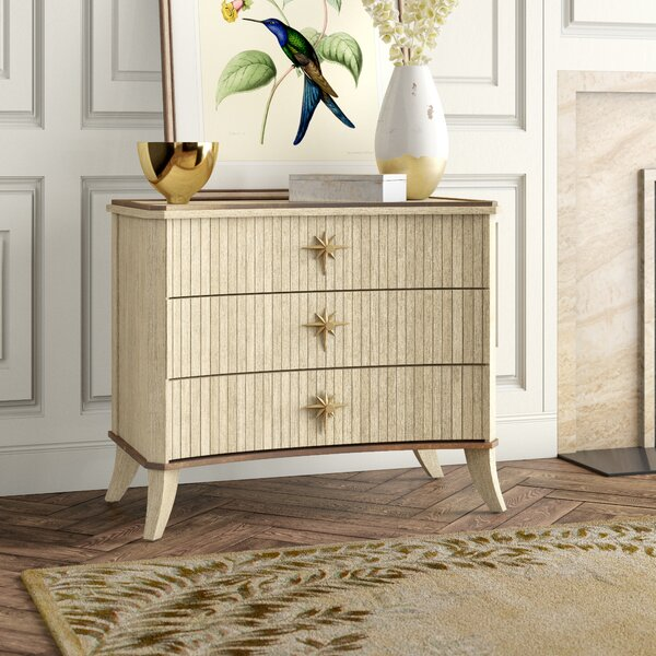 Klismos 3 Drawer Accent Chest by Global Views