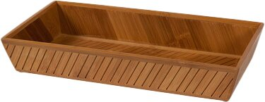 Bamboo Bathroom Accessory Tray by Nine Space