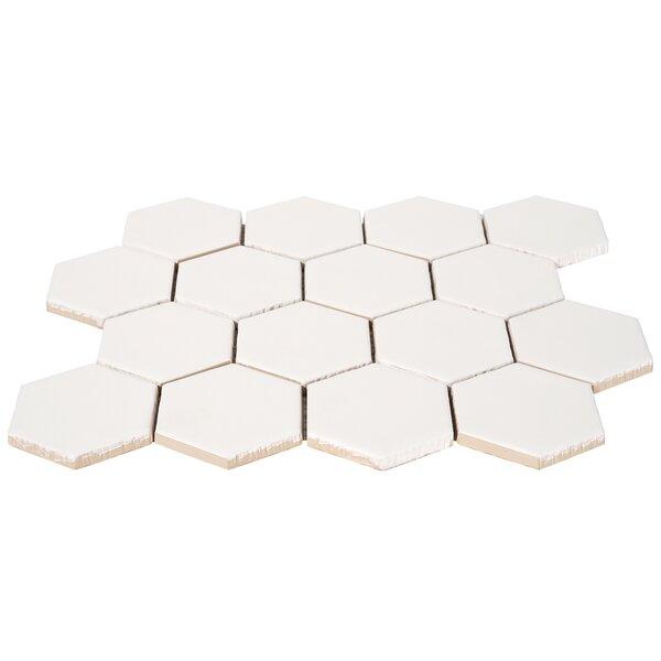 Maine 3 x 3 Ceramic Honeycomb Mosaic Wall & Floor Tile
