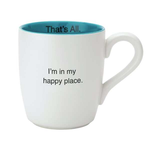 Happy Place Mug (Set of 4) by That's All.