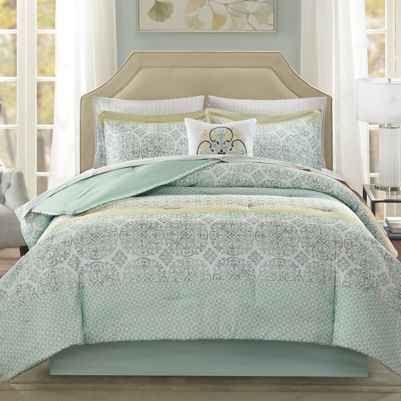 Alcott Hill Wedgewood Complete Comforter and Cotton Sheet Set ...