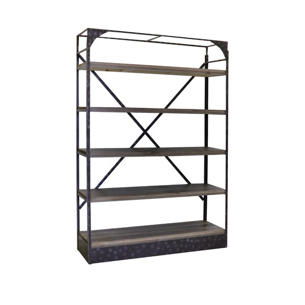 Desarae Rustic Metal Etagere Bookcase by 17 Stories