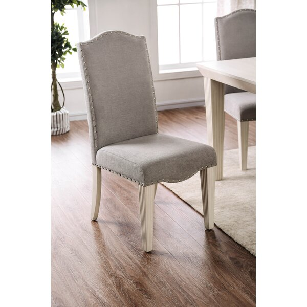 Mercedes Upholstered Dining Chair (Set of 2) by One Allium Way