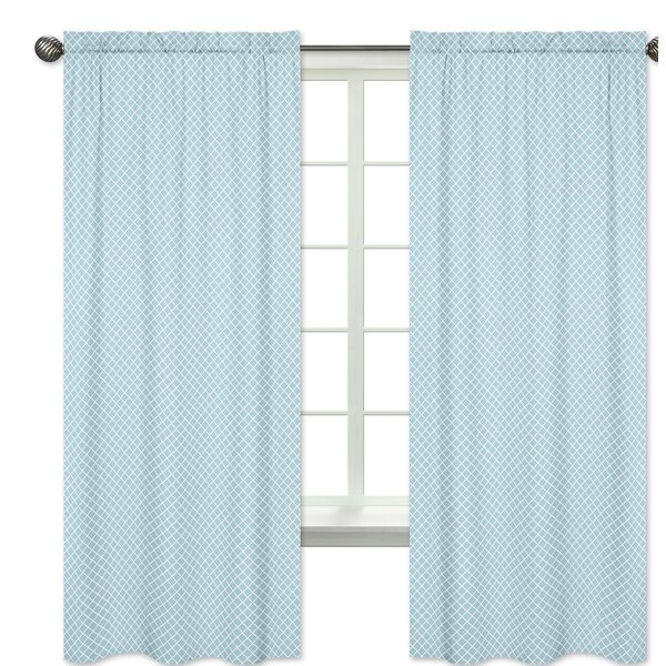 Woodland Toile Geometric Semi-Sheer Rod Pocket Curtain Panels (Set of 2) by Sweet Jojo Designs