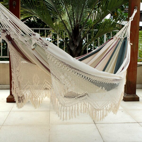 Mccoin Joyous Earth Double Cotton Tree Hammock by Bloomsbury Market Bloomsbury Market