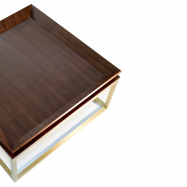 Le Tray Straight Leg Coffee Table With Tray Top By Marie Burgos Design